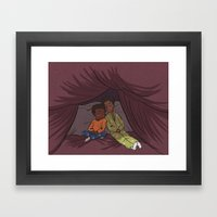 Troy and Abed's Pillow-Blanket Fort Framed Art Print