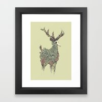 Beautiful Deer Old Framed Art Print
