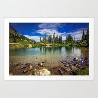 Mountain Lake Art Print