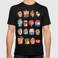 Puglie Food 3 Mens Fitted Tee Tri-Black SMALL