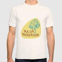 Majik Mushroom Mens Fitted Tee Natural SMALL