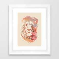 Desert Lion Framed Art Print