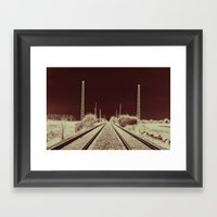 Dawn Of The Rails Framed Art Print