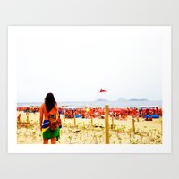 Ipanema New Year's Eve Art Print