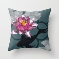 In The Koi Pond Throw Pillow