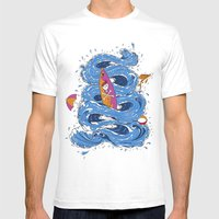 Wipeout Mens Fitted Tee White SMALL