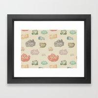 You Rock (Pattern) Framed Art Print