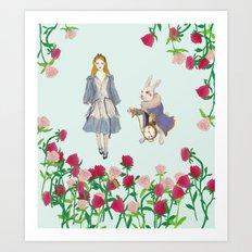 alice in wanderland Art Print