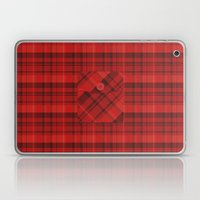 Plaid Pocket - Red Laptop & iPad Skin