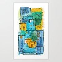 Blues Street Art Print