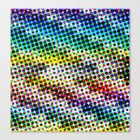 Halftone Color Chart Canvas Print