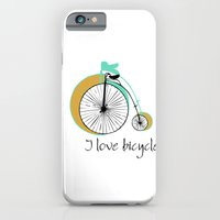 iPhone & iPod Case featuring I love bicycle by Norita