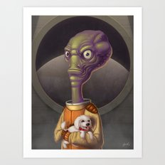 Spacehead Joe Art Print