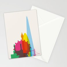 Shapes of London. Accurate to scale Stationery Cards