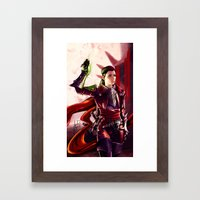 Dragon Age Inquisition - Cleo the human rogue Framed Art Print
