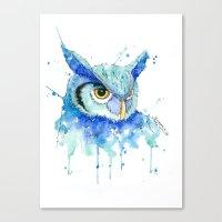 Color Hedwig  Canvas Print