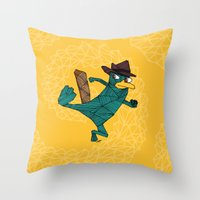 My Perry The Platypus Throw Pillow