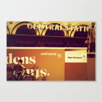 Outside the Central Station Canvas Print