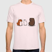 Animal Marshmallow Mens Fitted Tee Light Pink SMALL
