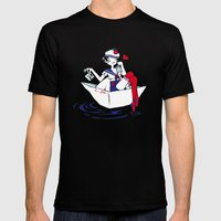 Adieu Marin. Mens Fitted Tee Black SMALL