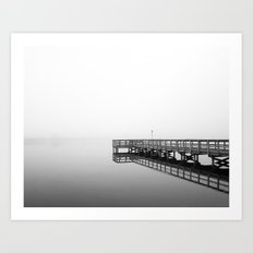 One Foggy Morning - Black and White Art Print