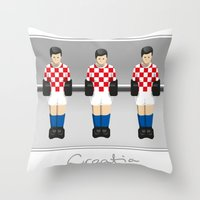 table football - Croatia Throw Pillow