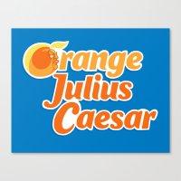 Orange Julius Caesar Canvas Print