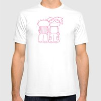 Rosy Love Mens Fitted Tee White SMALL