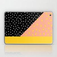 Peach Fuzz Black Polka D… Laptop & iPad Skin