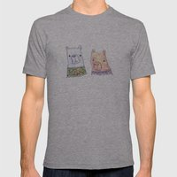 Backhand Bears Mens Fitted Tee Athletic Grey SMALL