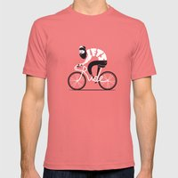 Let's ride Mens Fitted Tee Pomegranate SMALL