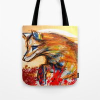Fox in Sunset II Tote Bag