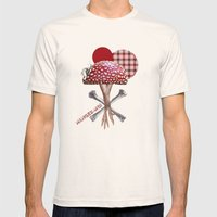 Mangez Moi ! Mens Fitted Tee Natural SMALL