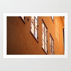 Stockholm Windows Art Print