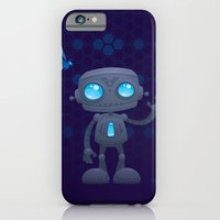 iPhone & iPod Case featuring Waving Robot by John Schwegel