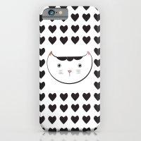 iPhone & iPod Case featuring neko love by Dot Handmade