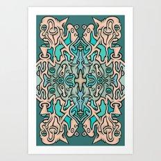 Brain Cloud Art Print