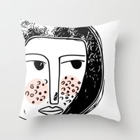Pimply Monsters - 1 Throw Pillow