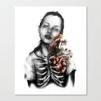 Heartbeats // Illustrati… Canvas Print