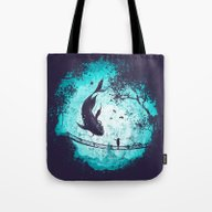 Tote Bag featuring My Secret Friend by Robson Borges