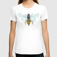 yellow T-shirts featuring Honey Bee by Cat Coquillette