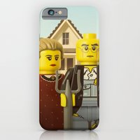 iPhone & iPod Case featuring American Gothic by powerpig