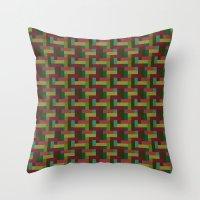 Woven Pixels III Throw Pillow
