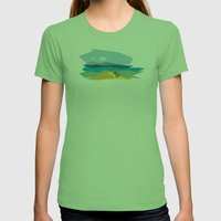 The passage Womens Fitted Tee Grass SMALL