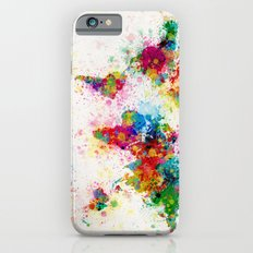 Map of the World Map Paint Splashes iPhone 6 Slim Case