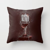 DARK MICROPHONE Throw Pillow