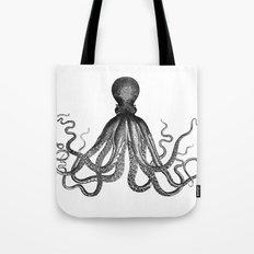Antique Nautical Steampunk Octopus Vintage Victorian Kraken sea monster emo goth drawing Tote Bag