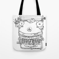 Typewriter Face Tote Bag