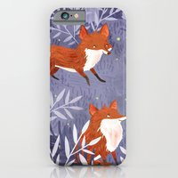 Foxes and Fireflies iPhone 6 Slim Case