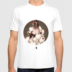 Garden of Eden White SMALL Mens Fitted Tee